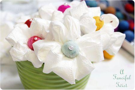 Toilet paper flowers 5