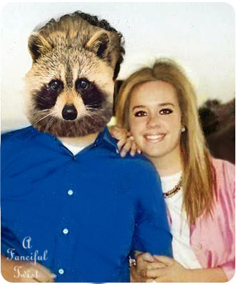 Me and Adam Racoon Head for blog 1
