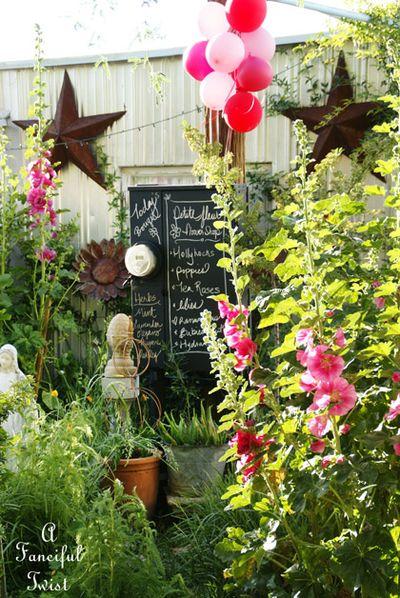 Hollyhock garden 10a
