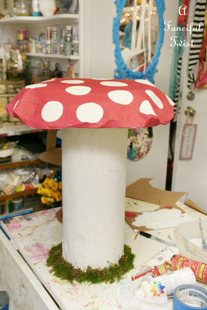 Papier Mache Mushroom 24
