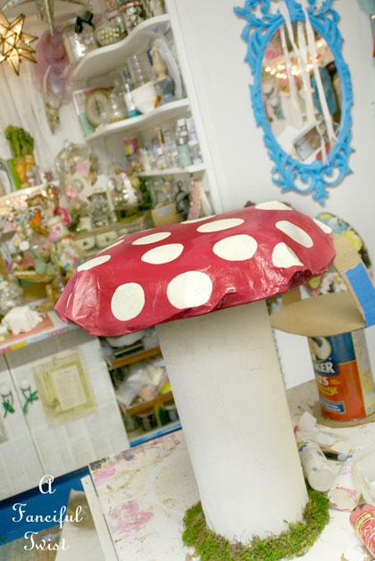 Papier Mache Mushroom 26