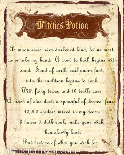 Witches Potion Print
