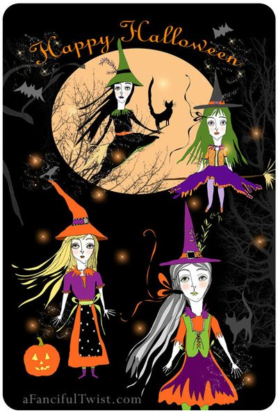 Halloween Witches Front Etsy