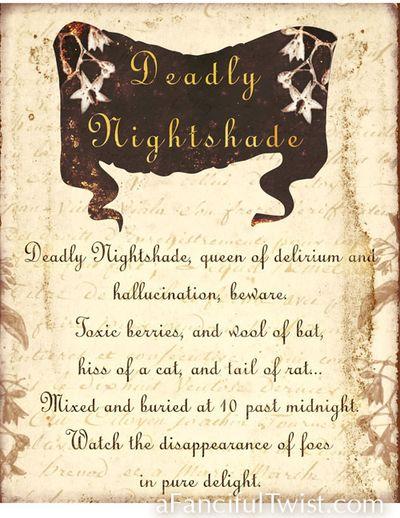 Deadly Nightshade Print