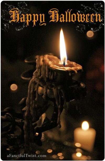 Happy Halloween Candle Front Etsy