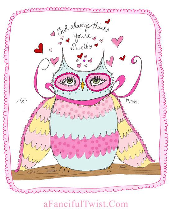 Owlie Valentine A Fanciful Twist dot Com 3