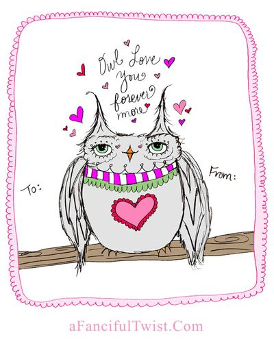 Owlie Valentine A Fanciful Twist dot Com 2