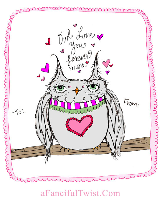 Owlie Valentine A Fanciful Twist dot Com 2