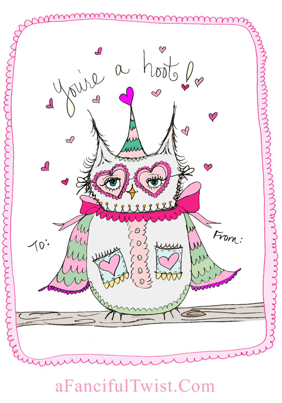 Owlie Valentine A Fanciful Twist dot Com 4