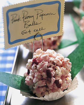 Pink pocorn balls