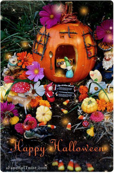 Halloween Pumpkin Village Front Etsy
