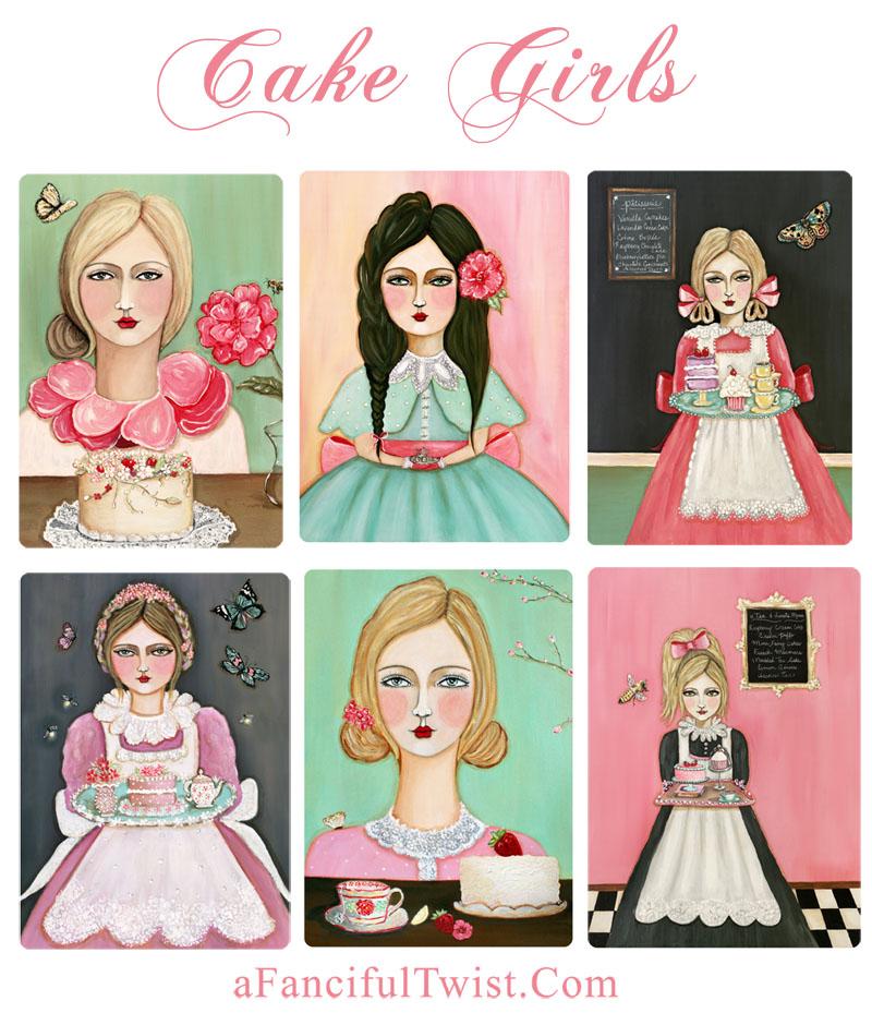 Cake Girls Card Set
