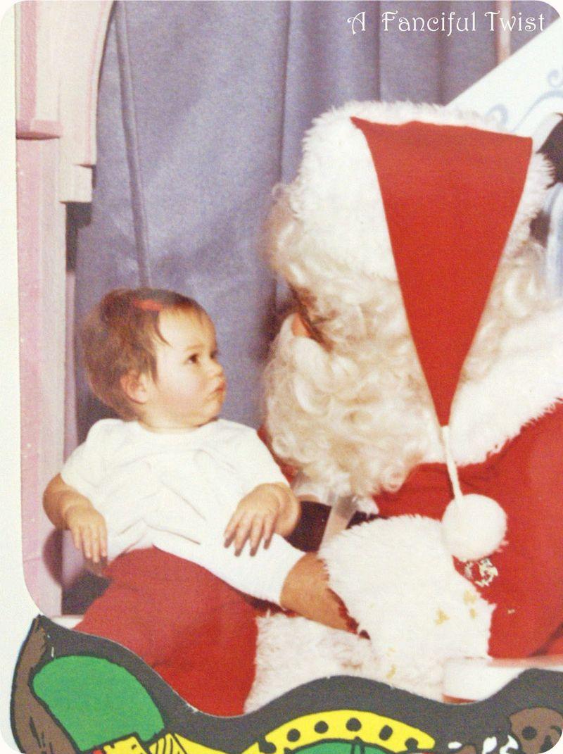 First Christmas me and santa