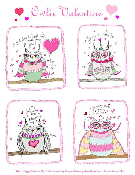 Owlie Valentine from aFancifulTwist dot com