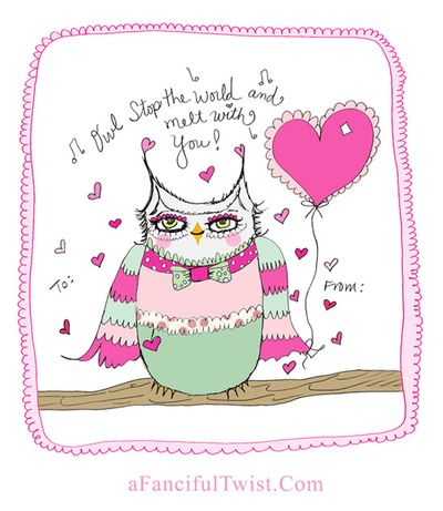 Owlie Valentine A Fanciful Twist dot Com 1