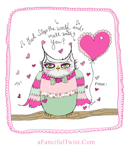 Owlie Valentine A Fanciful Twist dot Com 1