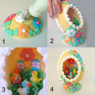 Sugar eggs assembly