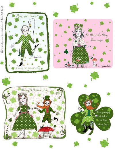 A Fanciful Twist Saint Patricks Day Cards