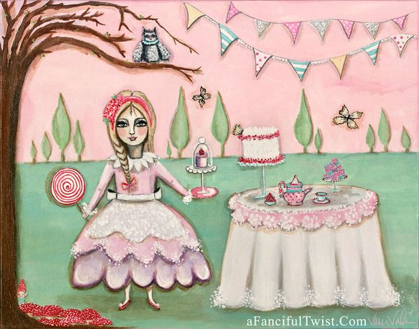 Tea Party in the magical cypress  ETSY