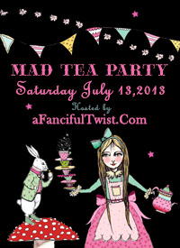 A Fanciful Twist Mad Tea Party Button