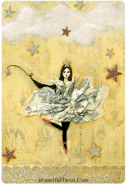 The Star Girl Follows her Dreams card front