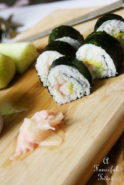 Homemade sushi 1
