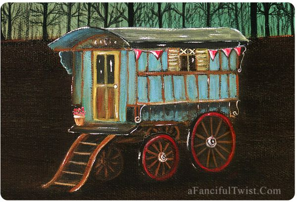 Gypsy Wagon card front