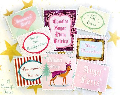 Christmas Jar Labels 1