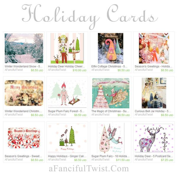 A Fanciful Twist holiday cards