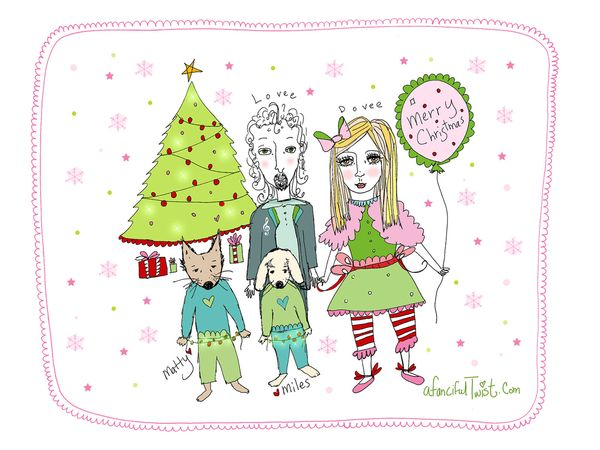 A Fanciful Twist holiday card blog