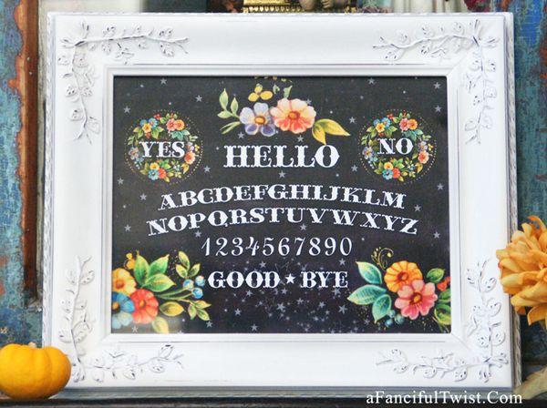 Spirit board print framed