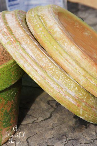 Mossy terracota pots 9