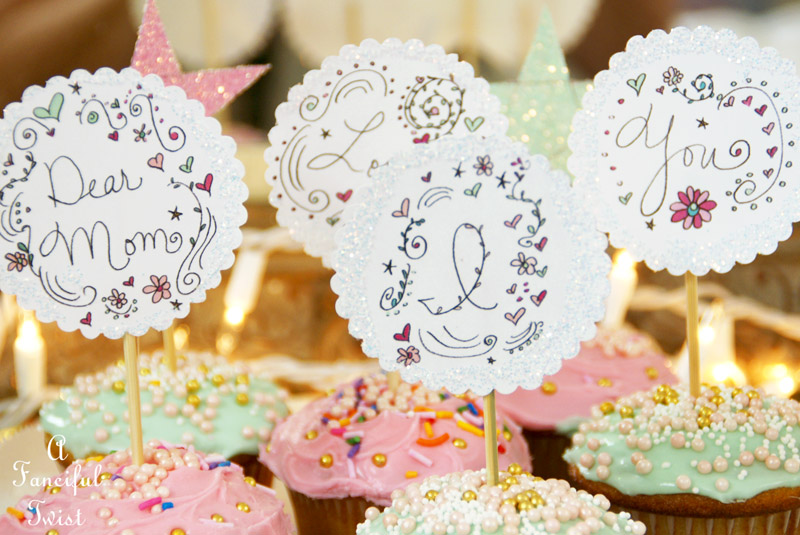 Mothers day cupcake toppers 3