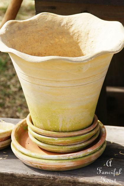 Mossy terracota pots 10