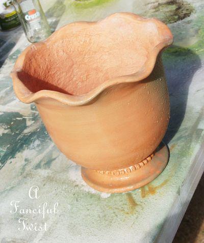 Mossy terracota pots 16