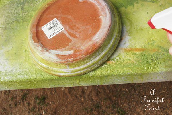 Mossy terracota pots 12