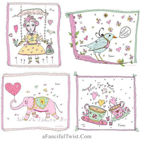 A Fanciful Twist Free Printable Valentines 4 on sheet