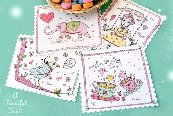 A Fanciful Twist Free Printable Valentines 1