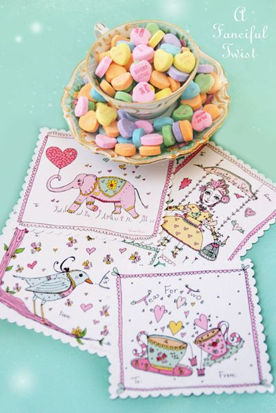A Fanciful Twist Free Printable Valentines 2
