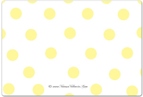 Flowers and Fruit Polka dots back of card