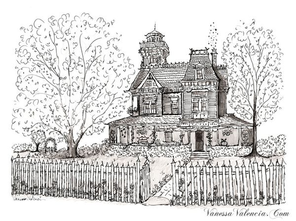 Practical Magic House illustration by Vanessa Valencia