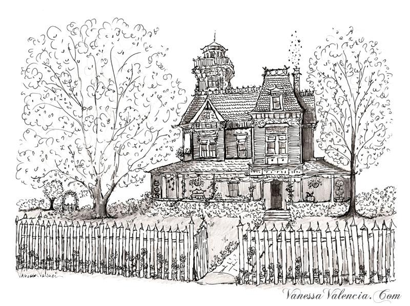 Practical Magic House illustration by Vanessa Valencia