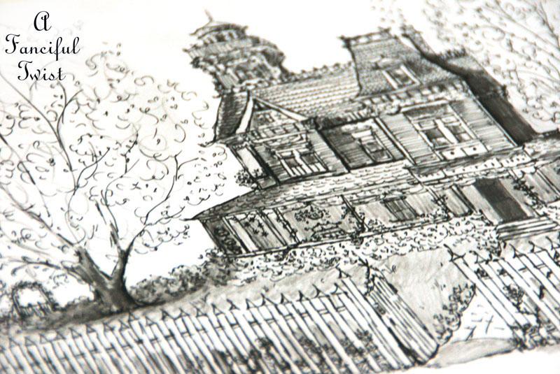 Practical Magic House illustration by Vanessa Valencia 4