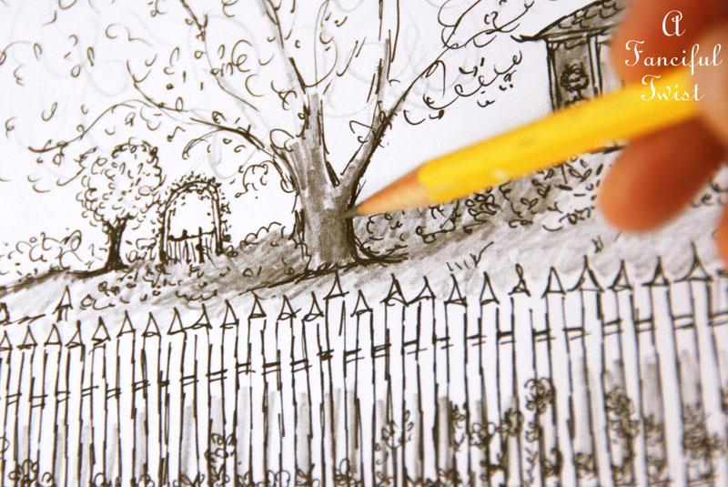 Practical Magic House illustration by Vanessa Valencia 2