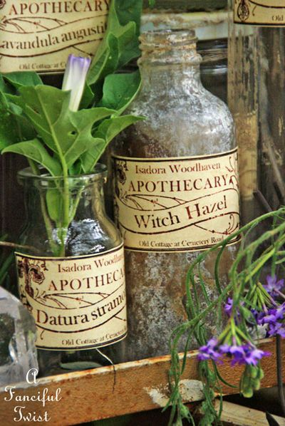 Apothecary spell potion labels 10
