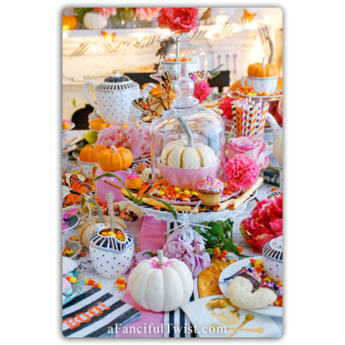 Halloween party tablescape front