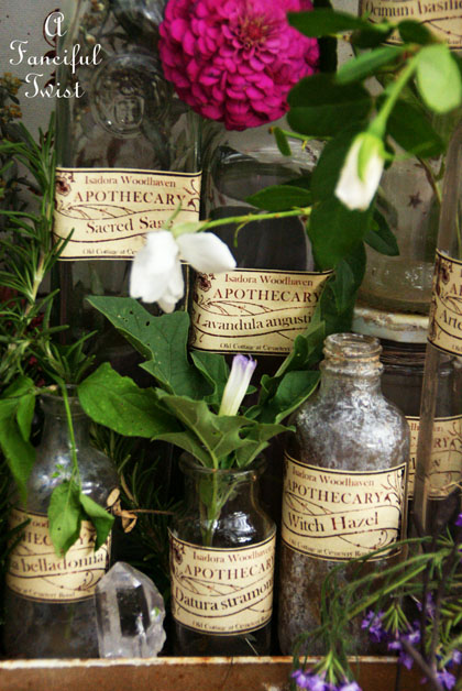 Apothecary spell potion labels 1