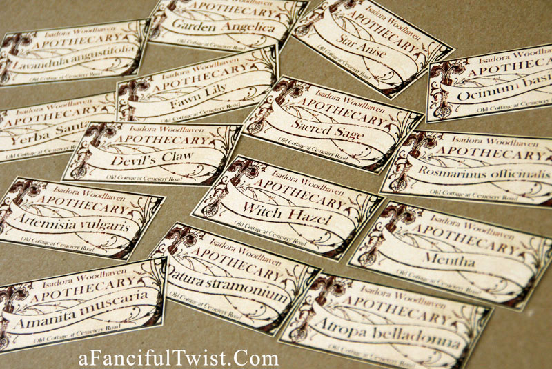 Apothecary spell potion labels 30