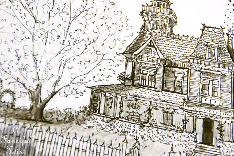 Practical Magic House illustration by Vanessa Valencia 5