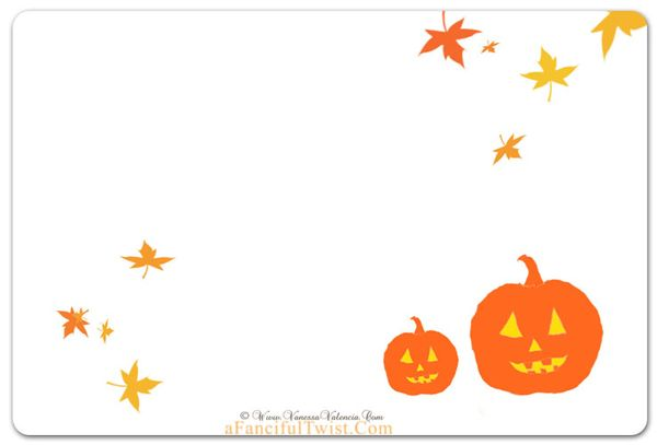 Cottage Halloween Pumpkins back of card